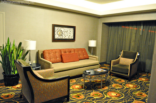 Suite Living Room at Mystic Lake Hotel ~ Prior Lake, MN