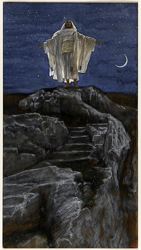 019-Jesus en la montaña rezando- 1886-1894- James Tissot-Copyright © 2004–2010 the Brooklyn Museum