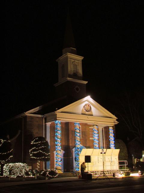Tullahoma First Baptist Church at Christmas