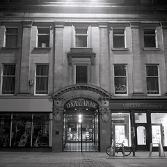 Central Arcade (boscoppa) Tags: newcastle newcastleupontyne tyneandwear grangier street central arcade england uk bw film 120 6x6 zeiss ikon nettar ilford fp4 night