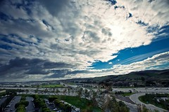 the view from my office window (Eric 5D Mark III) Tags: california road sky cloud mountain canon landscape parkinglot ramp view traffic wideangle 405 freeway orangecounty irvine interchange ef1635mmf28liiusm eos5dmarkii