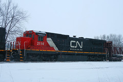 CN C40-8 2114 STEVENS POINT, WI 2010 (A447) (nordique72) Tags: winter snow wisconsin cn december ge canadiannational stevenspoint cnw chicagoandnorthwestern c408 a447 cnw8567