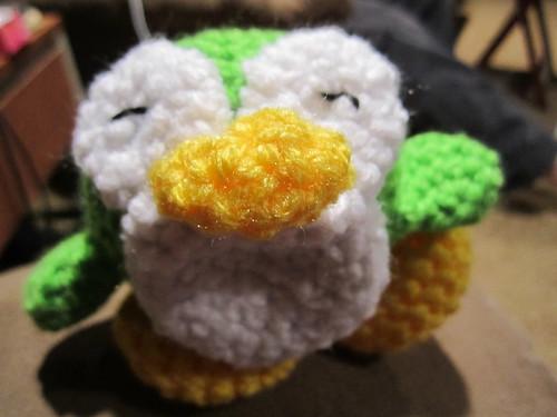 Crocheted Penguin, green