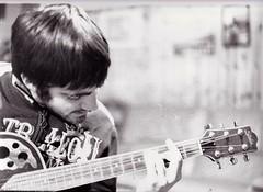 cantautore (migliorare con l'et :)) Tags: boy portrait music guitar musica ritratto biancoenero chitarra ragazzo whitebw bnblack