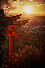 One of the Senbon Torii at Fushimi Inari Taisha (dawvon) Tags: japan kyoto   kansai torii  hdr  fushimiinaritaisha   fushimiinarishrine    kyotoprefecture senbontorii fushimiku  hdrefexpro fushimashrine kyotofushimiward