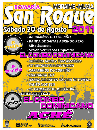 Muxía 2011 Moraime - cartel