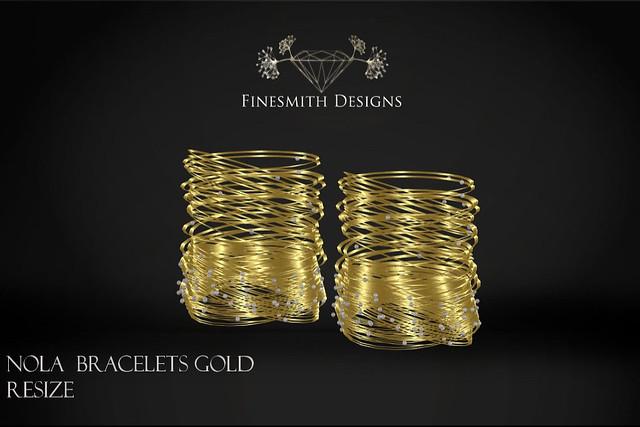 Nola bracelets gold