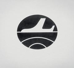 Retro Corporate Logo Goodness_00003 (jordan_lloyd) Tags: blackandwhite plane vintage logo airplane 60s icons flight retro 80s airline 70s 1970s 1980s logos branding iconography trademarks logotypes
