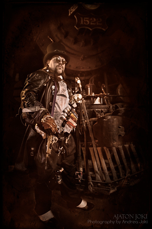 Steampunk concept shoot with artist Josh Hart