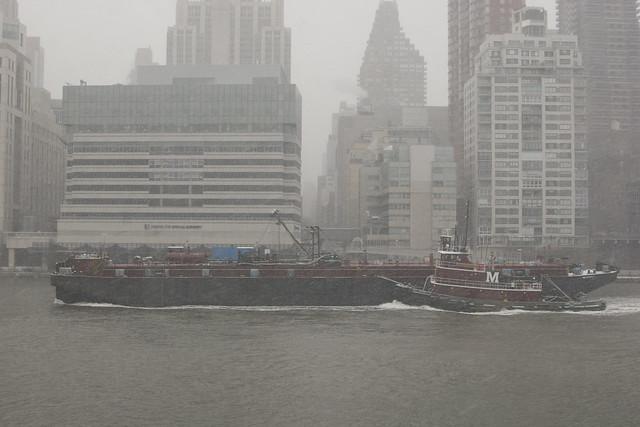 blizzard boat in east river