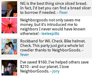 NeighborGoods testimonials