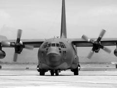 Lockheed HC-130P Hercules 65-0977 (jackmcgo210) Tags: blackandwhite bw blackwhite lockheed distillery hercules c130 kiwa usafr hc130p lockheedhc130phercules 650977 fultonsurfacetoairrecoverysystem