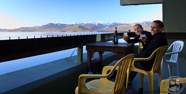 Boris & Hannes Enjoying A Beer And The View