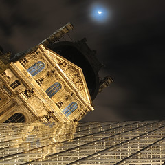 "[Explore] ""Bratanesque"" Angle to the Louvre Museum ~ Paris // France ~ (Yannick Lefevre) Tags: longexposure windows moon paris france reflection museum architecture photoshop nikon raw nef nightshot angle louvre tripod perspective wideangle ps muse symmetry moonlight iledefrance pyramide gettyimages manfrotto d300 sigma1020 poselongue nikoncapturenx bratanesque capturenx2 yannicklefevre