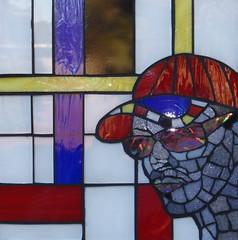 Pierre (Gila Mosaics n'stuff) Tags: portrait male art glass artist mosaic homage mondrian gilamosaics jkpp2011