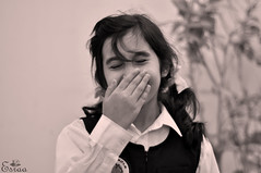 * (Esraa Alkulaibi) Tags: school girl happiness shy spontaneous بنت ابتسامه عفويه