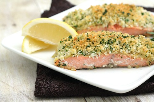 salmon almond crusted salmon with leek and lemon cream panko crusted ...