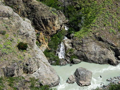 Waterfalls and River Near El Chalten - Patagonia, Argentina