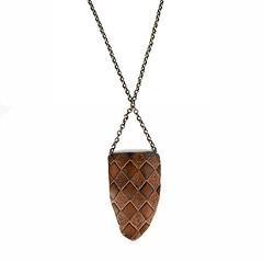 jacqueline necklace (Esma Studios) Tags: etched necklace jewelry copper etsy harlequin esma diamondpattern esmastudios
