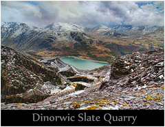 Disused Slate Quarry (Steve Wilson - over 2 million views thank you) Tags: winter panorama lake snow mountains abandoned industry wales clouds landscape mine britain great north scenic scene mining disused welsh slate snowdonia quarry northwales dinorwic dinorwig slatequarry