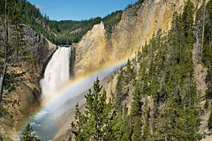 Lower Falls and Rainbow from Red Rock Point at Yellowstone National Park (D200-PAUL) Tags: waterfall nationalpark rainbow canyon yellowstonenationalpark yellowstone wyoming lowerfalls redrockpoint aboveandbeyondlevel4 aboveandbeyondlevel1 aboveandbeyondlevel2 aboveandbeyondlevel3