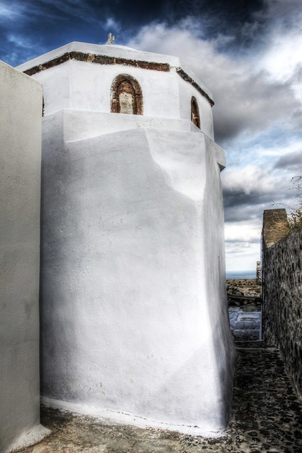 Pyrgos village in Winter