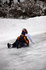 Neighborhood Sledding