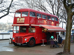 Fish & Chip Routemaster (Mark Zuid) Tags: red bus london southbank converted routemaster fishchips