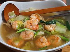 Shredded noodle prawn soup at Wasa, Edinburgh