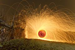Wooly cathode test (- Hob -) Tags: lightpainting raw cathode lightjunkies woolspin