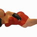 """art figurine papermache"" ""lady in red/black lying front"""