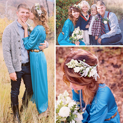 jill thomas blue wedding dress bride with style boho bride