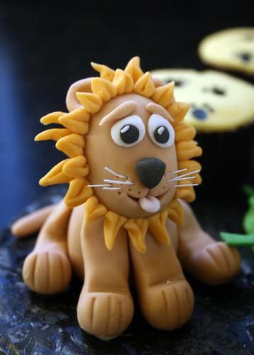 Close up of fondant lion