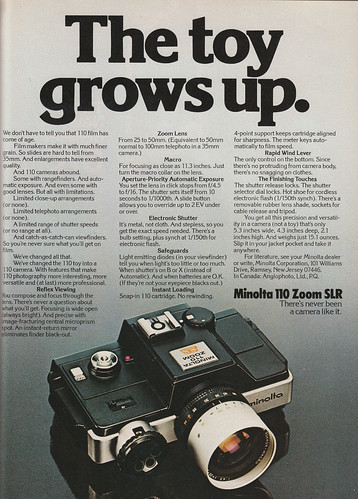 Minolta 110 Zoom SLR / Ad March 1977