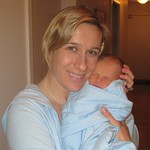 Allison Forsyth, former Canadian Alpine Ski Team racer, with new son Ryker Grywul, born January 7th, 2011