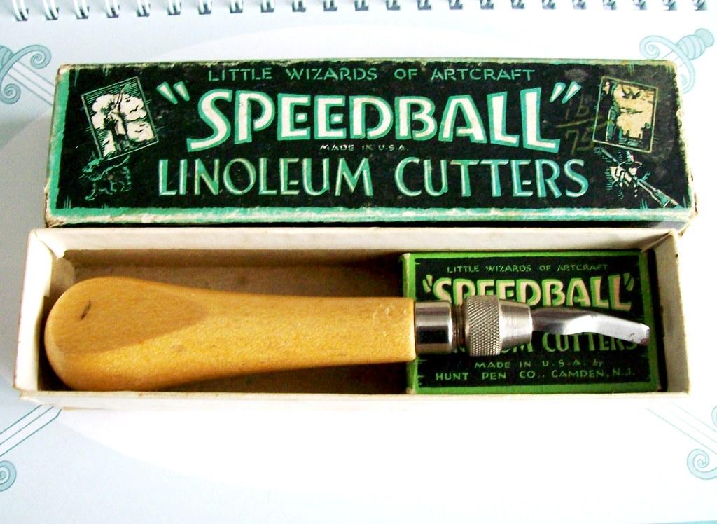 vintage speedball lino cutters