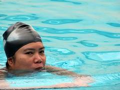 Swimming (Mangiwau) Tags: pink blue black sexy ass girl swimming swim indonesia asian sweet butt suit jakarta fitness pantat biru kolam coklat hitam renang berenang betawi cewek fitnes