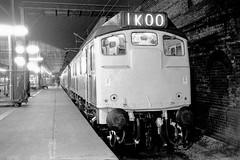 A night at Crewe, 1975; 24133 (robmcrorie) Tags: station night train rail railway loco trains class crewe 1975 british locomotive 24 enthusiast railways railfan 24133 1koo