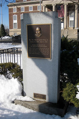 MLK memorial in front of City Hall, Elizabeth, NJ (by: Wally Gobetz, creative commons license)
