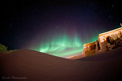 Arctic Night (savillent) Tags: winter sky snow canada cold night dark stars lights northwest space north arctic astrophotography aurora northern territories borealis tuktoyaktuk