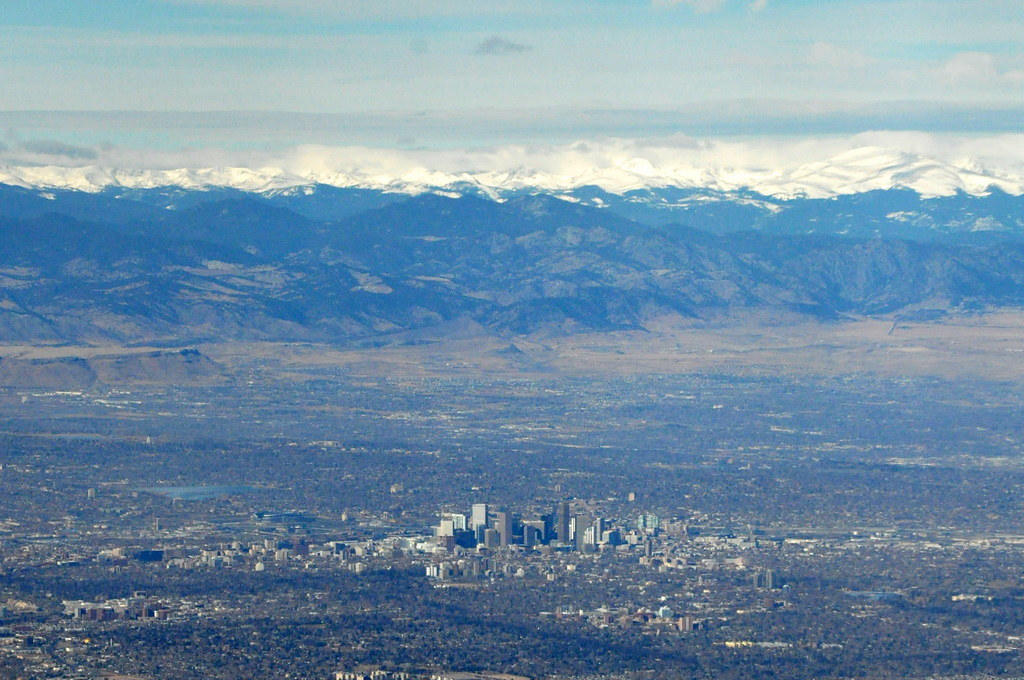 Denver from the Plane