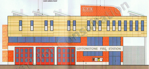 Artist's impression of the new Fire Station