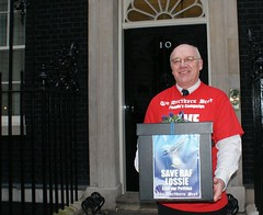 Northern Scot petition at downing street - cropped