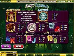 free Tarot Treasure slot mini symbol