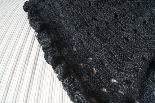 Black Crochet Shawl
