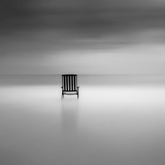 Chair with sea view (Kees Smans) Tags: sea blackandwhite bw holland art water netherlands chair whitewater view scheveningen fineart nederland denhaag northsea nd nik seaview zuidholland longtimeexposure tuindorp daytimelongexposure nd110 blackandwhitefineart bwnd110 oldwoodenchair silverpro keessmans 2010keessmans blackandwhitelongtimeexposure wwwbwfineartcom