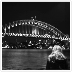Bridge over the stars (cisco image ) Tags: bw square sydney australia cisco soul newsouthwales harbourbridge bianconero backshot bienne 500x500 photographia soulsound eos5dmarkii bridgeoverthestarsbykeikomatsui gennaio2012challengewinnercontest
