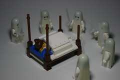 Ghost Nightmare (Siercon and Coral) Tags: castle girl coral bed lego ghost dream sword sheet ghosts nightmare asleep moc afol