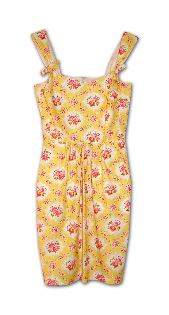 sunny dress yellow floral