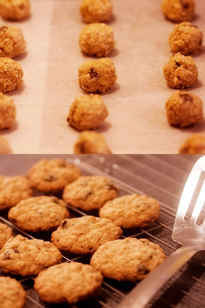 Macro 19/31:  Before & After Oatmeal Cookies
